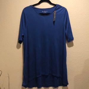 Chico's Blue Short Sleeve Tee Sz 2